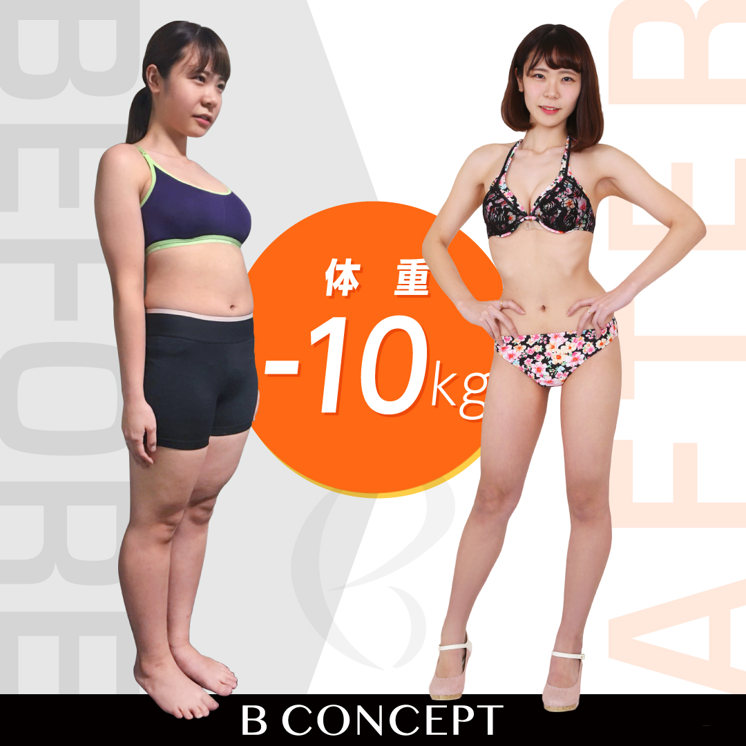 Before/After画像。10キロ減。
